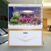 閩江生態魚缸1.2 米1.5水族箱底濾玻璃大型中型創意屏風金魚缸