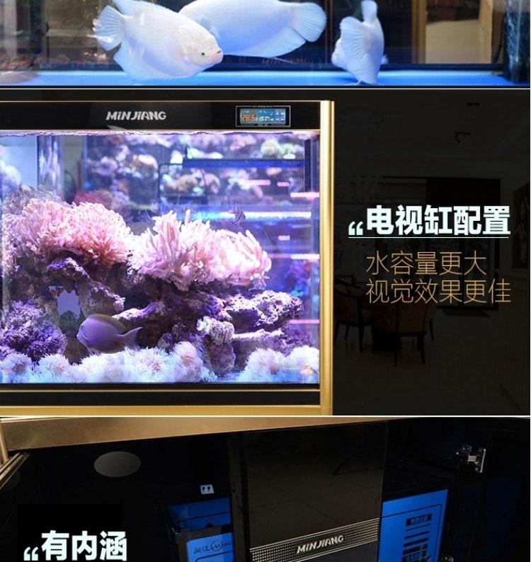 闽江鱼缸水族箱中型1.2米玻璃生态底滤免换水客厅大型金鱼缸1.5米