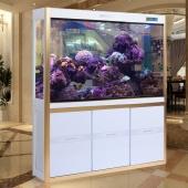閩江魚缸水族箱中型1.2米玻璃生態底濾免換水客廳大型金魚缸1.5米