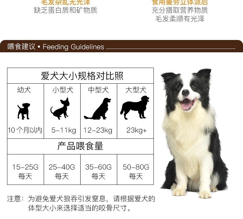 曼劳 立体派犬用牛肉粒训练奖励狗零食 200g