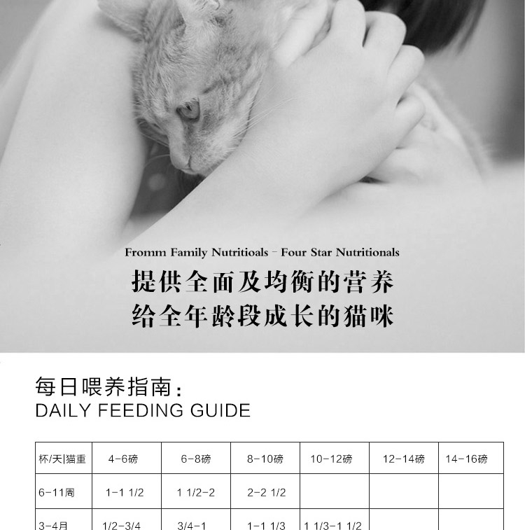 Fromm福摩 无谷全猫粮三文鱼鸭肉蔬菜配方猫粮(5Lb)/2.27kg【保质期至2018年8月28日】