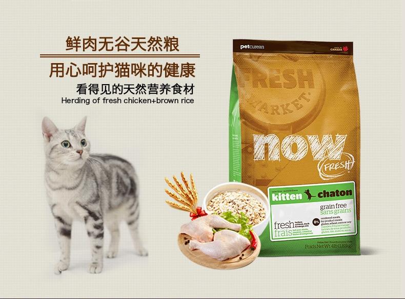 NOW FRESH 无谷配方幼猫粮 8磅 加拿大原装进口