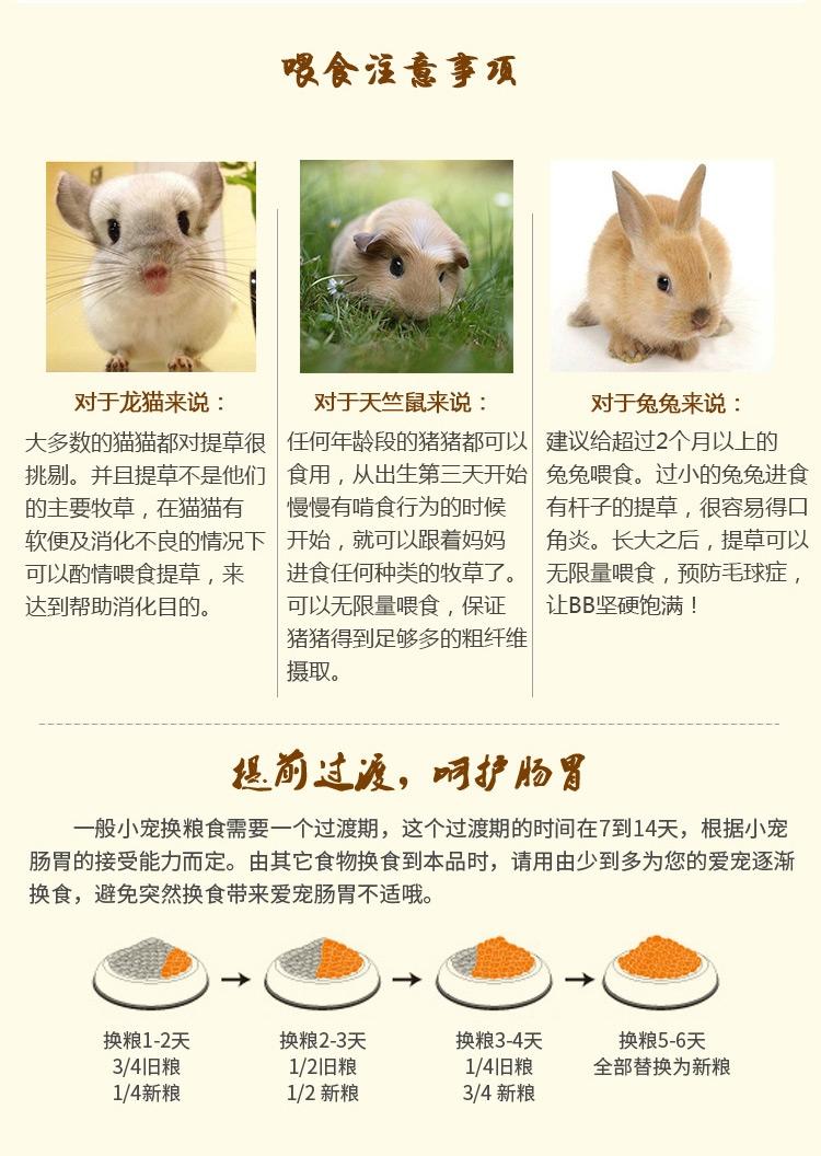 哈姆 龙猫兔子豚鼠荷兰猪天竺鼠牧干草饲料大麦草段454g