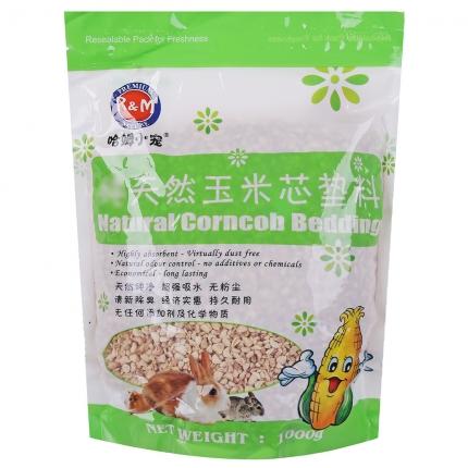 西施熊仓鼠龙猫兔子豚鼠松鼠除臭玉米芯垫材垫料 颗粒饱满1KG