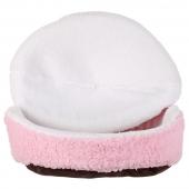 Smarty Kat粉色汉堡猫窝 隐蔽保暖 可拆洗