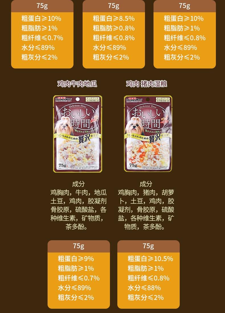 日本多格漫Doggyman 犬用低脂肪鸡肉 鸡软骨湿粮75g*12包 狗湿粮训练奖励零食罐头