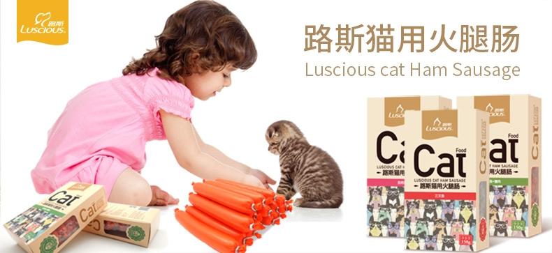路斯 三文鱼火腿肠 150g*6盒 美毛亮毛猫零食