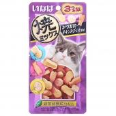 伊纳宝 鲣鱼节味、鸡汤味、鱿鱼味猫零食25g*12