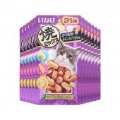 伊纳宝 鲣鱼节味鸡汤味鱿鱼味肉粒25g*12包 猫零食