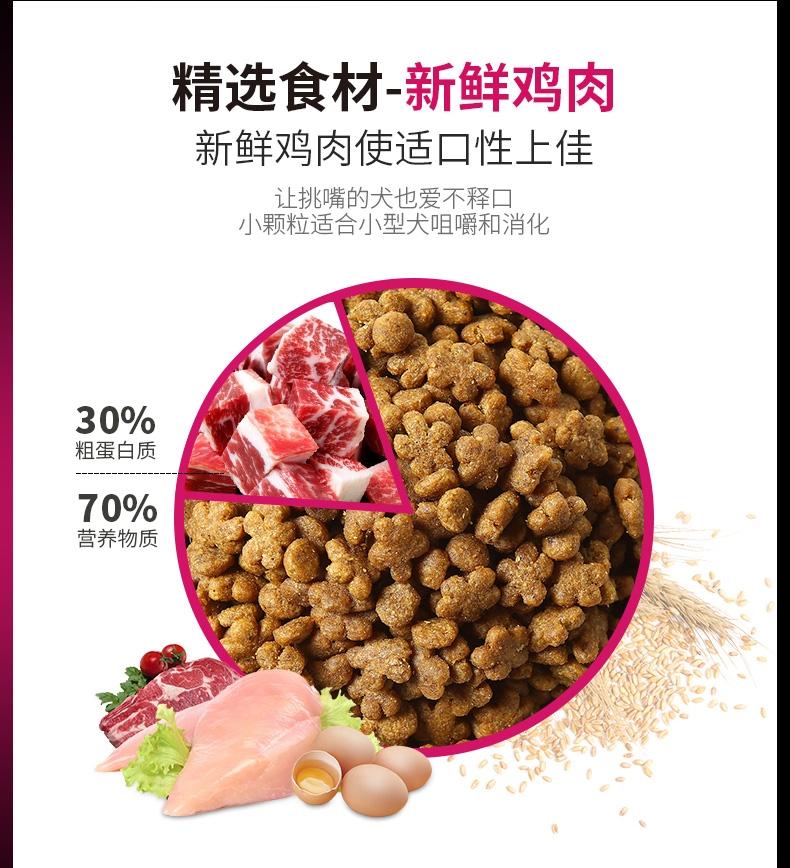 冠能PROPLAN 小型犬成犬挑食及美毛配方全价狗粮2.5kg