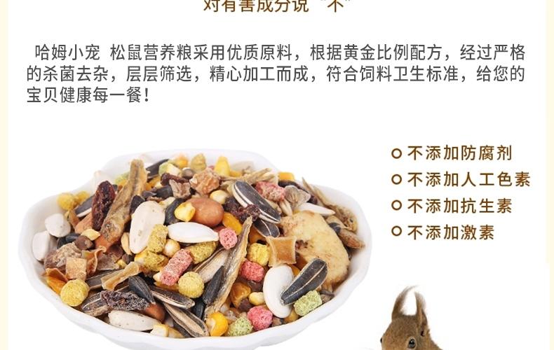 哈姆小宠 营养松鼠粮 含多种坚果蔬菜水果干粮 松鼠营养粮454g