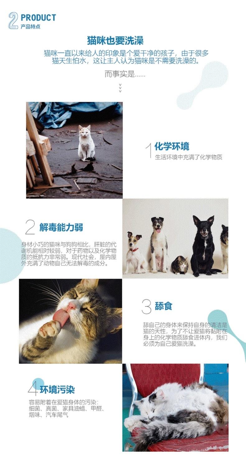 英特林客斯InterLinx 猫用氨基酸滋养免洗香波   200ml 日本原装进口
