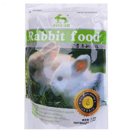 JESSIE洁西 全营养成兔/幼兔粮 兔饲料2.5千克