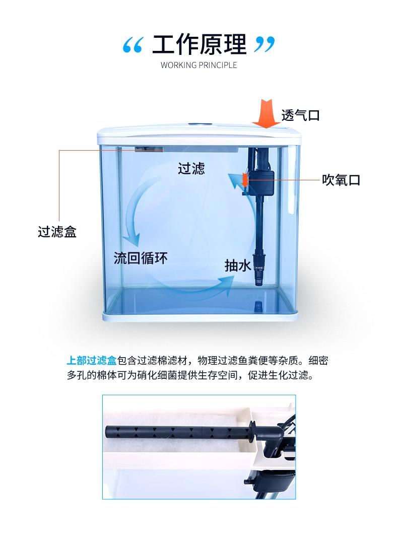 聚宝源鱼缸水族箱S-600-白色