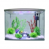 聚宝源鱼缸水族箱S-800白色鱼缸+布景套餐