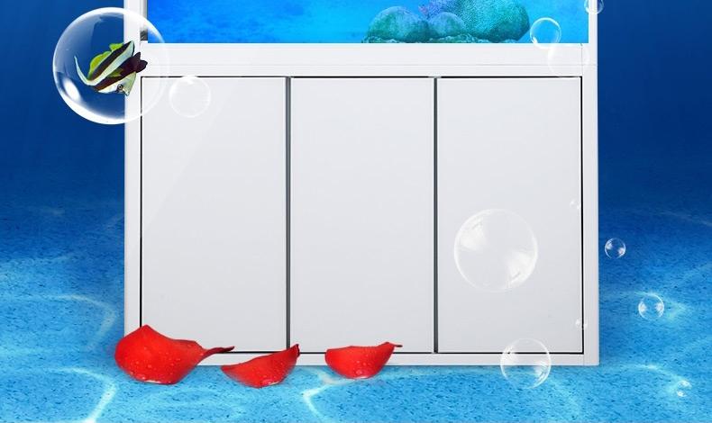聚宝源直角龙鱼缸上滤-60cm酒红(缸+柜子)