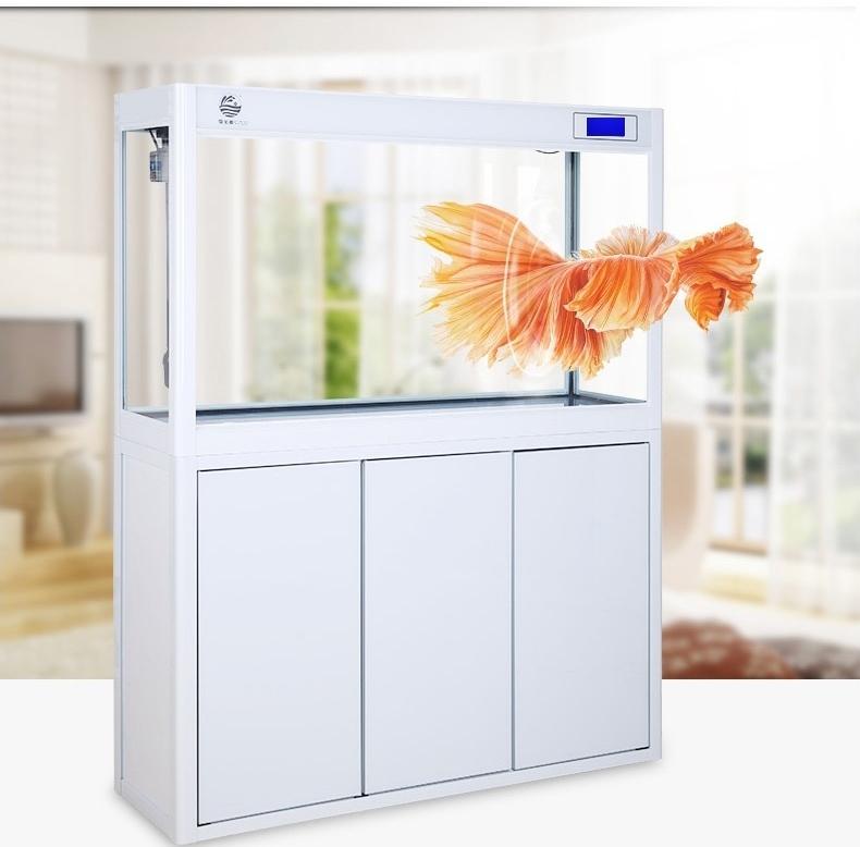 聚宝源直角龙鱼缸JS-600上滤-60cm酒红(缸+柜子)