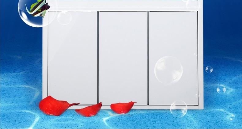 聚宝源直角龙鱼缸JS-800上滤-80cm酒红(缸+柜子)