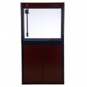 聚寶源直角龍魚缸JS-800上濾-80cm酒紅(缸+柜子)