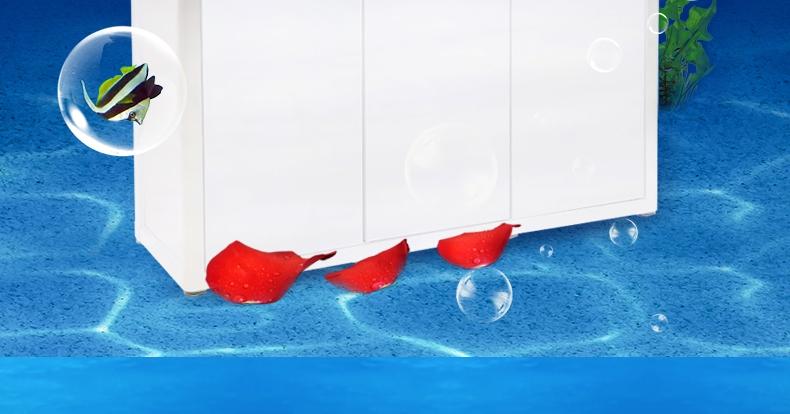 聚宝源无边框直弯龙鱼缸YS-800上滤-80cm白色单缸