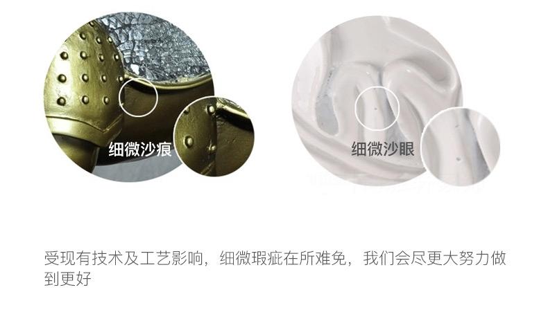 多拉乐 树脂仿真狗罗威纳模型 一套四只 装饰摆件