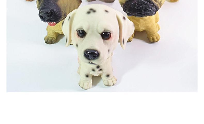 多拉乐 创意树脂仿真狗摆件摇头狗 装饰摆件