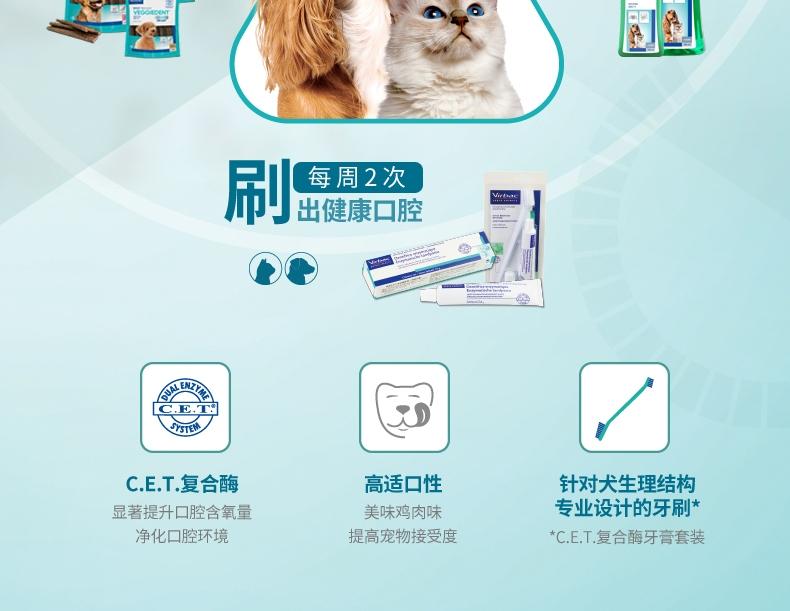 法国维克Virbac 犬猫用益口清漱口水 500ml 清洁口腔 法国进口