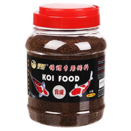 锦跃锦鲤饲料育成500克小粒瓶装