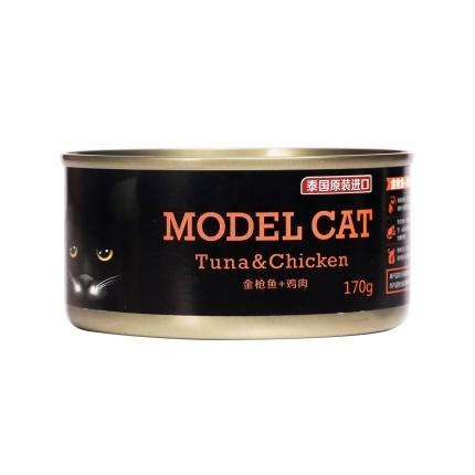 麦富迪模特猫/金枪鱼 鸡肉170g 猫湿粮
