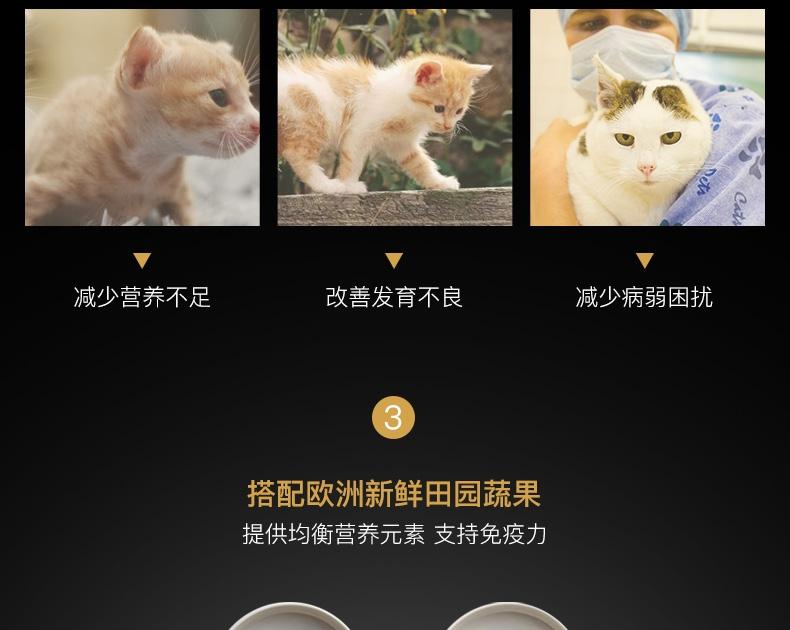 Fussie cat高窦猫  无谷鸡肉火鸡配方全猫粮10磅