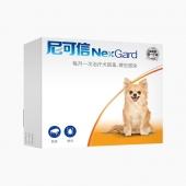 尼可信 小型犬抗寄生蟲口服體外驅蟲藥 3片/盒 2-4KG犬用