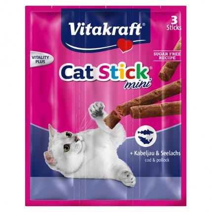 Vitakraft猫条 肉干猫零食 鳕鱼口味18g