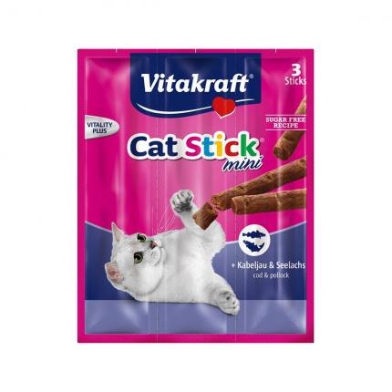 【换购搭赠】卫塔卡夫Vitakraft猫条 肉干猫零食 鳕鱼口味18g