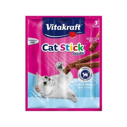 【换购搭赠】卫塔卡夫Vitakraft猫条 肉干猫零食 三文鱼口味18g