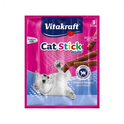 【换购搭赠】卫塔卡夫Vitakraft猫条 肉干猫零食 鲽鱼口味18g