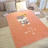 LA WEST法兰绒毯毛毯秋盖毯午睡毯空调毯宿舍儿童卡通雪纳瑞狗毯子