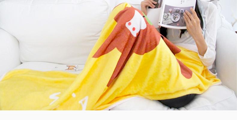 La west 法兰绒毯毛毯午睡毯空调毯儿童卡通 泰迪狗毯子
