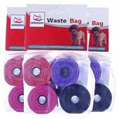 宠物用品 中恒混合装4卷拾便袋宠物垃圾袋 猫咪狗狗便携拾便器*3联包