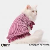 ISPET 宠物衣服金丝绒T恤猫咪衣服狗狗服饰