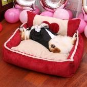 爱宝嘉 超大柔软宠物窝温暖邂逅爱心 猫狗通用床