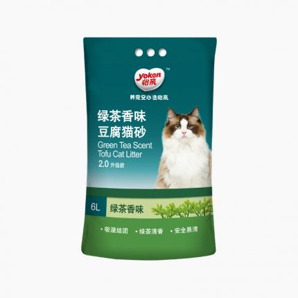 怡亲Yoken 绿茶豆腐猫砂 6L 2.0升级款