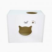 CatS 墻上貓家具系列之木制貓屋貓跳臺貓爬架F2 白浮雕款