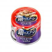 佳乐滋Gaines 银勺金枪鱼及鲣鱼含小银鱼猫罐头 70g