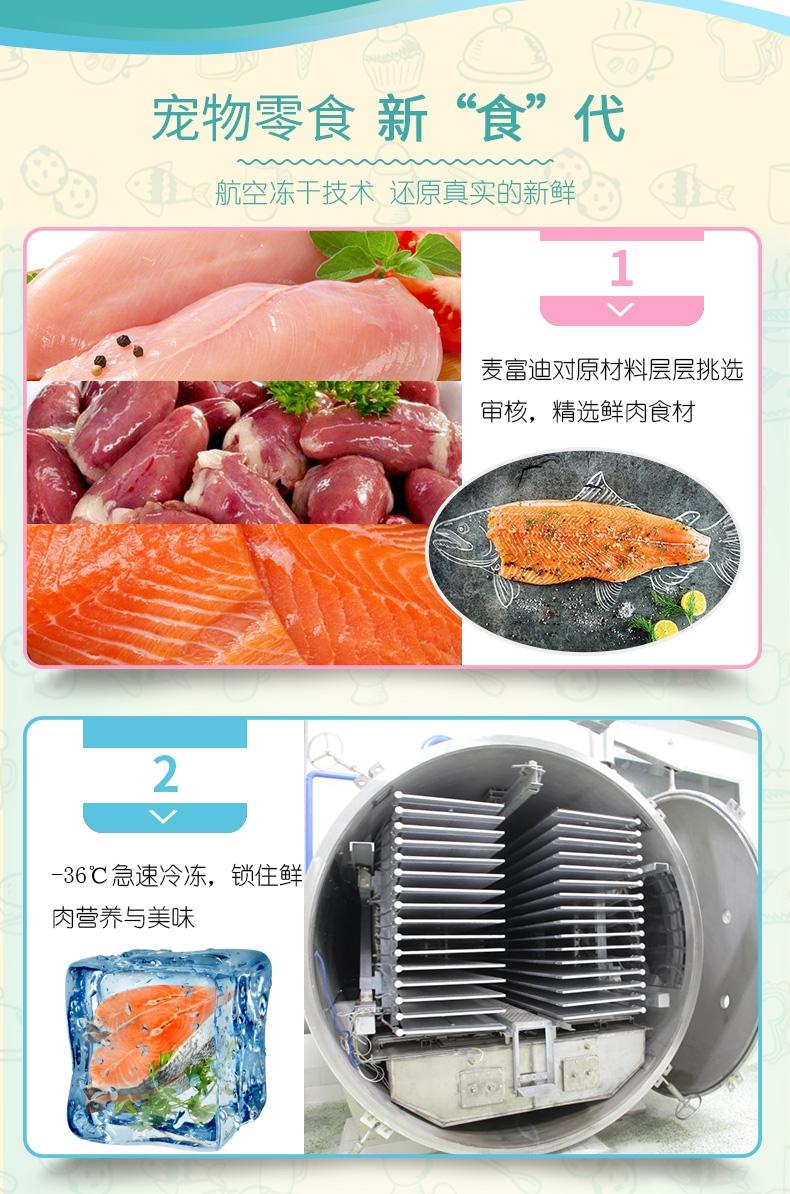 麦富迪 冻干三文鱼55g 猫零食