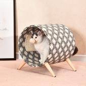 伊丽 Elite 猫爬架实木猫床圆桶猫窝 LMT0002