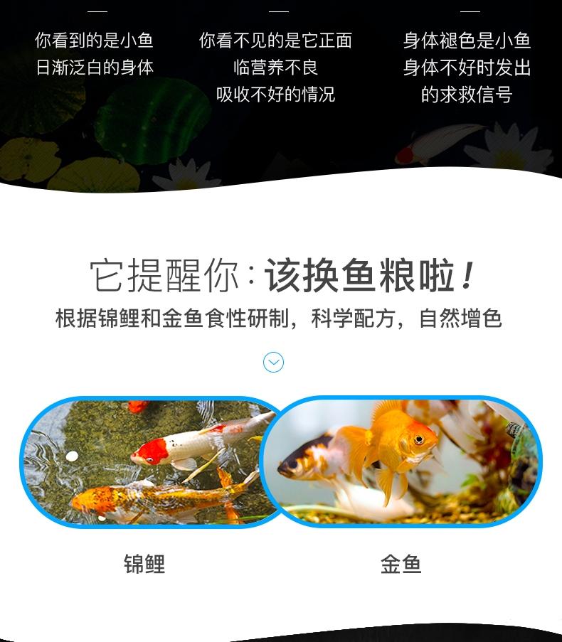 聚宝源 锦鲤金鱼通用鱼粮育成4mm颗粒 500g