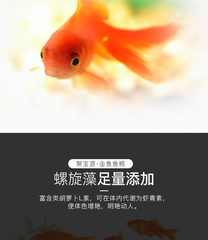 聚宝源 金鱼鱼粮3mm颗粒 500g