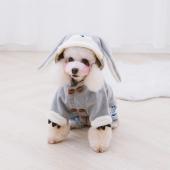 Touchdog它它 秋冬新款宠物衣服兔子装泰迪雪纳瑞小型犬狗狗衣服
