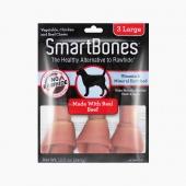 美国Smartbones 大号洁齿骨牛肉味 3支装340g 狗狗零食