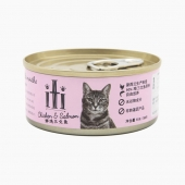 新西兰爱娣iti Pet 鸡肉三文鱼主食猫罐头 85g 90%含肉量